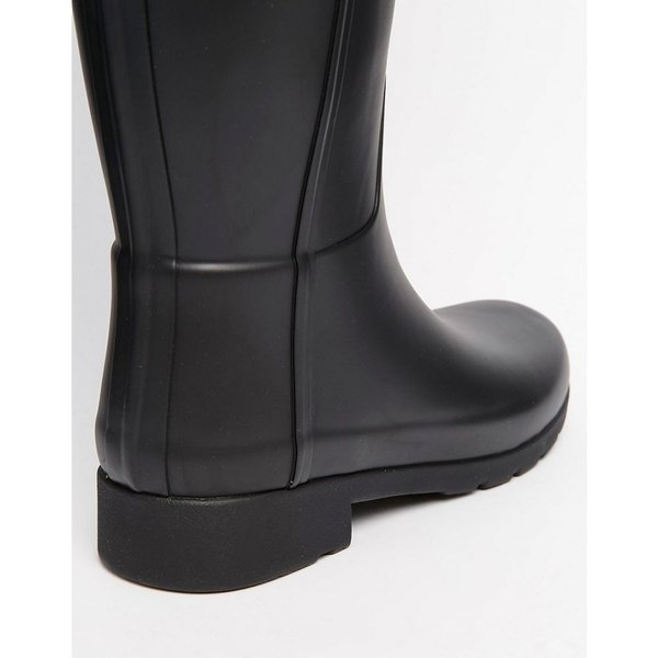 ハンター Hunter レディース 長靴 シューズ・靴 Hunter Original Refined Back Strap Black Wellington Boots Black