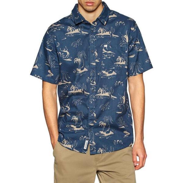 クイックシルバー Quiksilver メンズ 半袖シャツ トップス endless trip short sleeve shirt Saragosa Sea Endless Trip