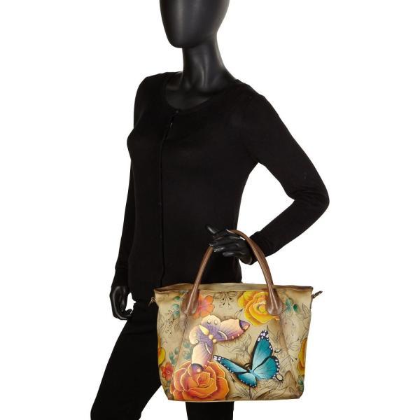 アヌシュカ ANNA by Anuschka レディース トートバッグ バッグ Hand Painted Slouch Tote Bag Denim Paisley Floral