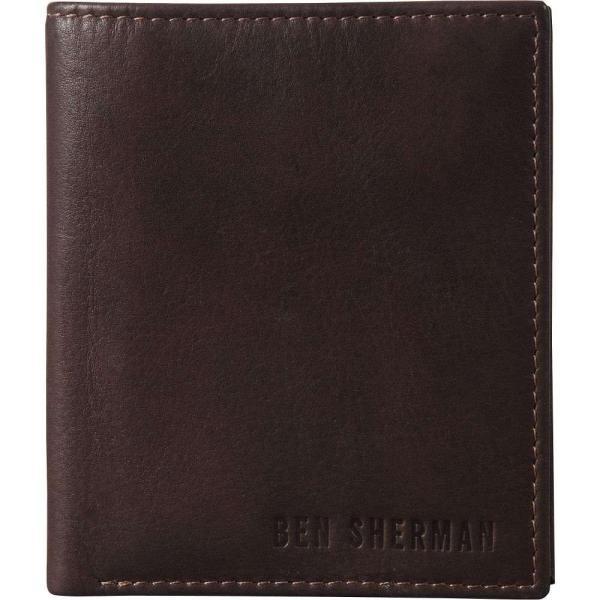 ベンシャーマン Ben Sherman Luggage メンズ 財布 二つ折り Hendon Slim RFID Leather Bifold Wallet Dark Brown|fermart