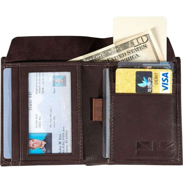 ベンシャーマン Ben Sherman Luggage メンズ 財布 二つ折り Hendon Slim RFID Leather Bifold Wallet Dark Brown|fermart|02