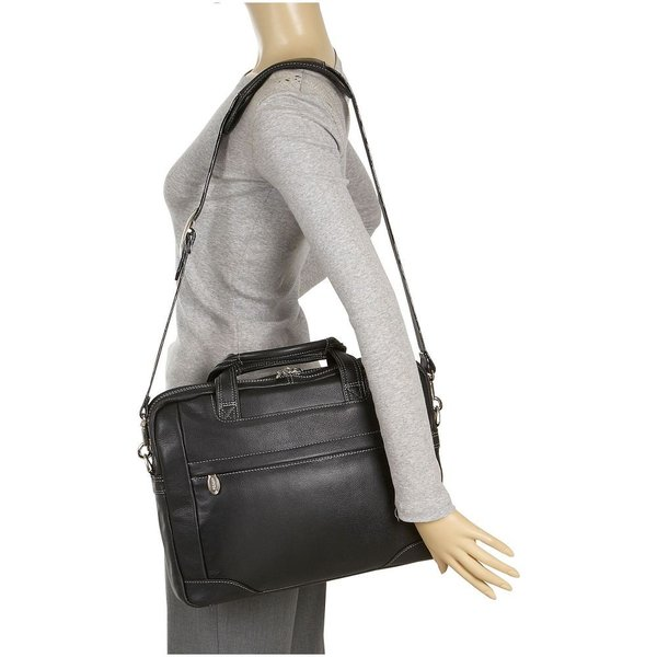 マックレーンユーエスエー McKlein USA メンズ パソコンバッグ バッグ Bronzeville Leather 15' Laptop Brief Cognac