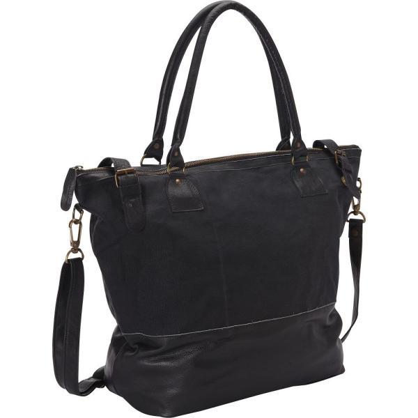 シャロ レザー バッグ Sharo Leather Bags レディース パソコンバッグ バッグ Large Leather Tote with Canvas Black
