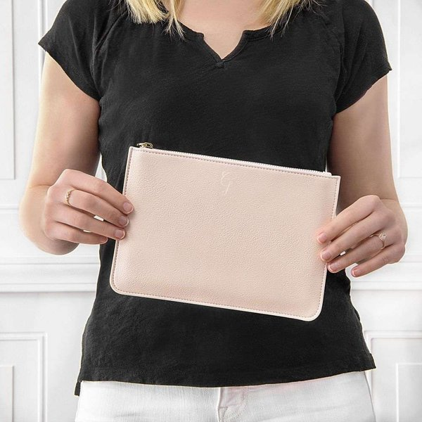キャシーズ コンセプツ Cathy's Concepts レディース クラッチバッグ バッグ Monogram Clutch Blush Pink - S