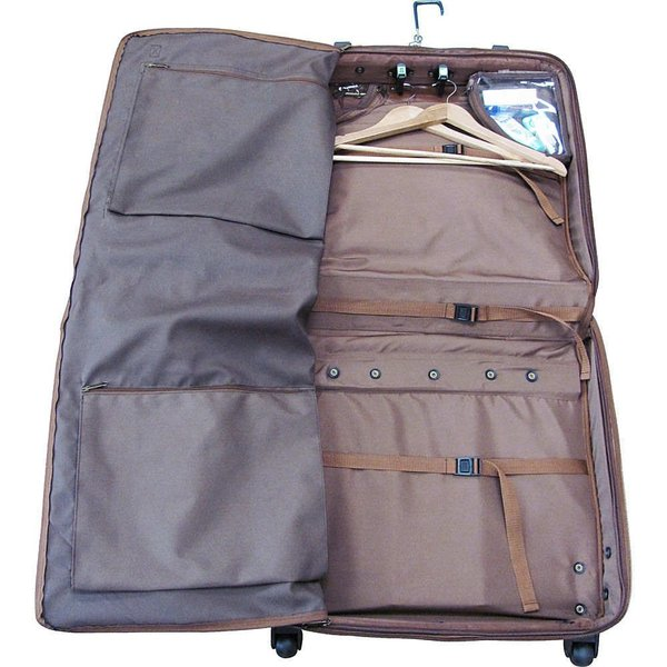 アメリレザー AmeriLeather メンズ スーツケース・キャリーバッグ バッグ Wheeled Leather Garment Bag Black