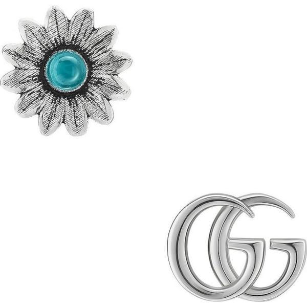 グッチ Gucci レディース イヤリング・ピアス スタッドピアス ジュエリー・アクセサリー GG Marmont Mismatched Stud Earrings Sterling Silver/Topaz