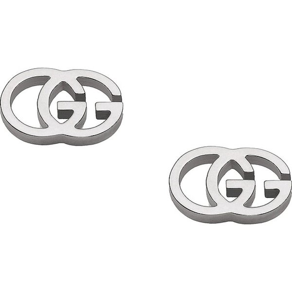 グッチ Gucci レディース イヤリング・ピアス スタッドピアス ジュエリー・アクセサリー Running G Stud Earrings 18KT White Gold