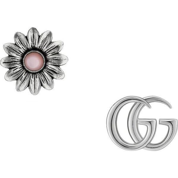 グッチ Gucci レディース イヤリング・ピアス ジュエリー・アクセサリー GG Marmont Flower Earrings Silver/Pink