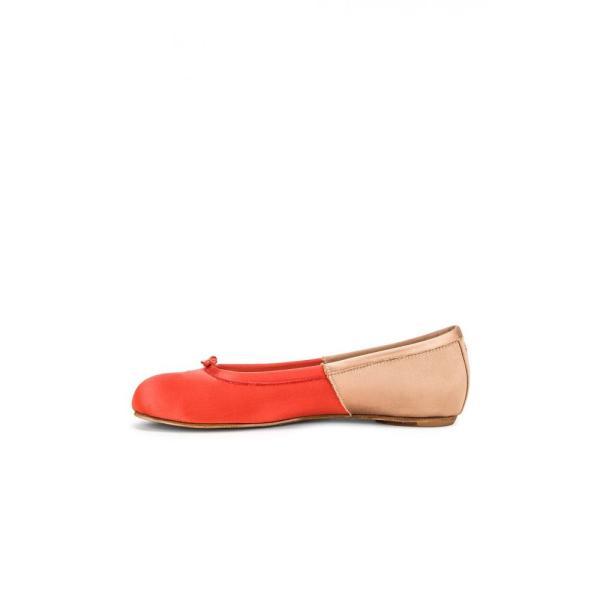 メゾン マルジェラ Maison Margiela レディース スリッポン・フラット シューズ・靴 Colorblock Ballerina Flat Coral & Light Pink