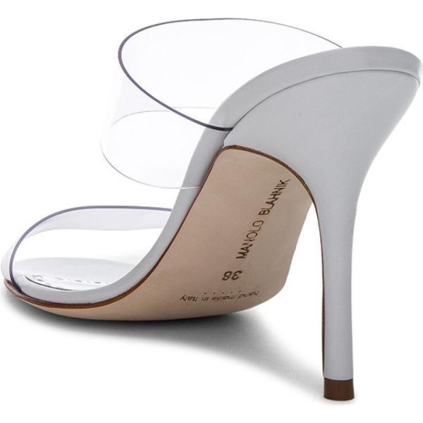 マノロブラニク Manolo Blahnik レディース サンダル・ミュール シューズ・靴 PVC Scolto Sandals White Leather