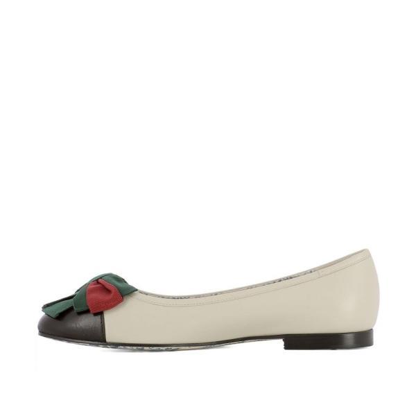グッチ Gucci レディース スリッポン・フラット シューズ・靴 Beige leather ballerinas Beige