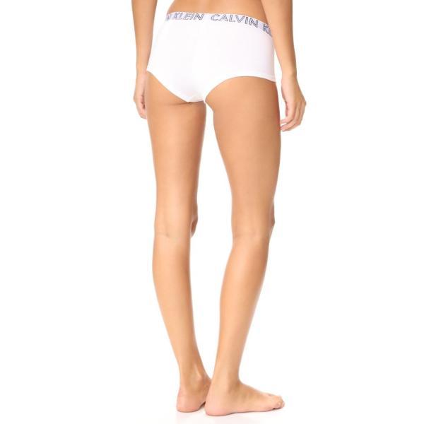 カルバンクライン レディース ショーツのみ インナー・下着 Ultimate Cotton Boy Shorts White|fermart|02