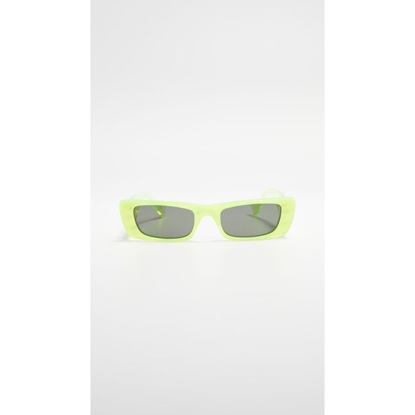 グッチ Gucci レディース メガネ・サングラス Fluo Narrow Acetate Rectangular Sunglasses Bilayer Yellow/Grey