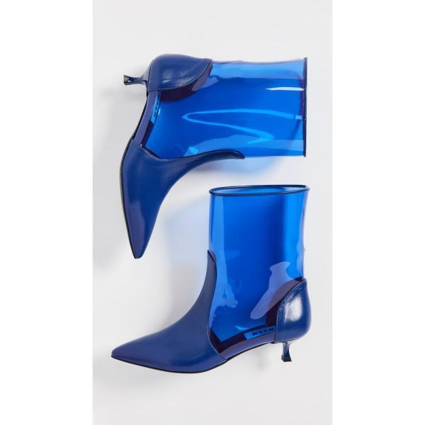 エムエスジーエム MSGM レディース ブーツ シューズ・靴 Pointy Ankle Booties Blue