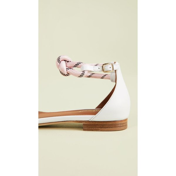 マローンスリアーズ Malone Souliers レディース サンダル・ミュール シューズ・靴 Fenn Flat Sandals White/Pink