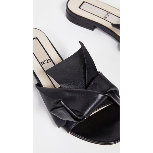 ヌメロ ヴェントゥーノ No. 21 レディース サンダル・ミュール シューズ・靴 Knot Sandal Slides Black