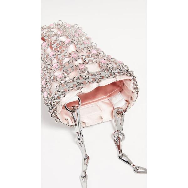 パコラバンヌ Paco Rabanne レディース ショルダーバッグ バッグ Flash Mini Crossbody Bag Pink/Silver