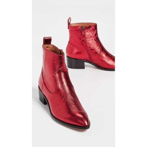 ヴェロニカ ベアード Veronica Beard レディース ブーツ シューズ・靴 Tanner Low Boots Red