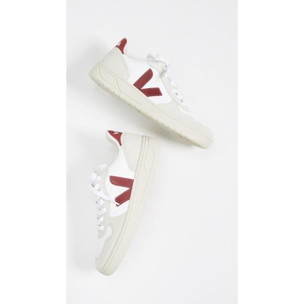 ヴェジャ Veja レディース スニーカー シューズ・靴 V-10 Lace Up Sneakers White/Marsala