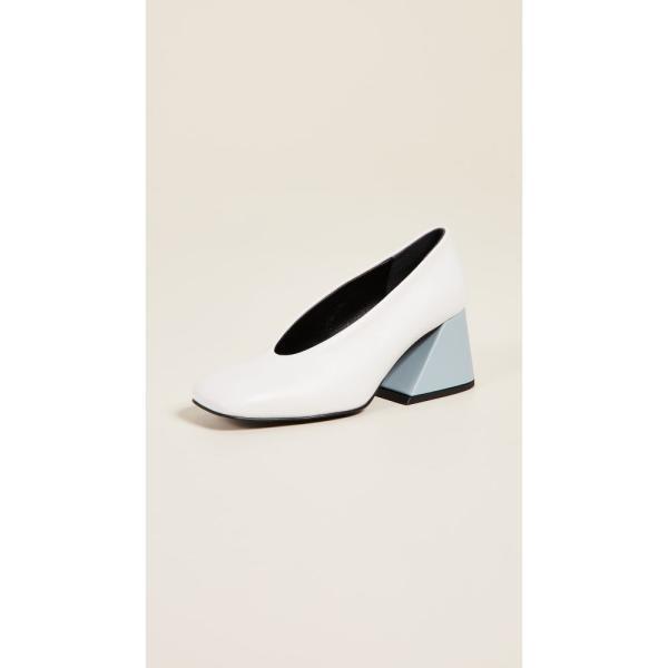 ユルイエ Yuul Yie レディース パンプス シューズ・靴 Raffin Pumps White/Sky Blue