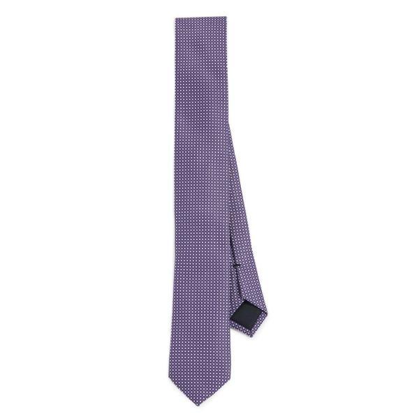 Hugo Boss Purple Micro Check Tie