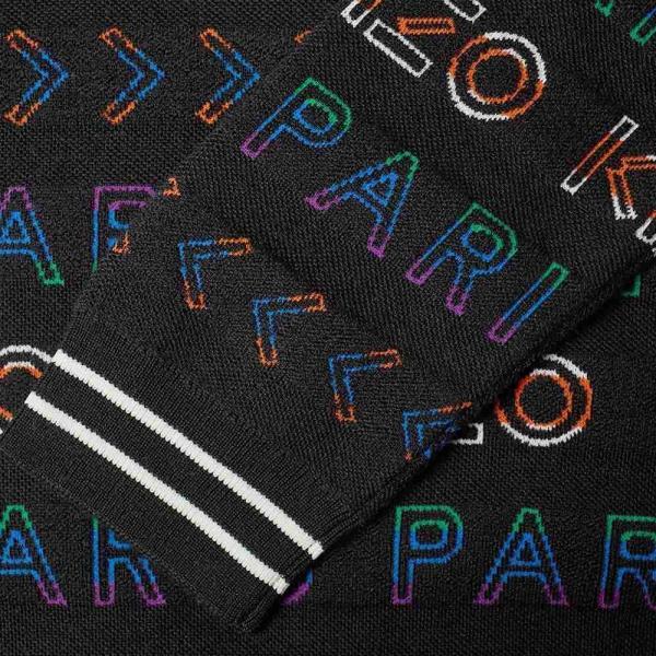 ケンゾー Kenzo メンズ パーカー トップス all-over jacquard knit ...