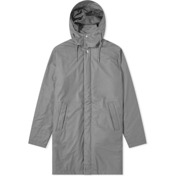 レインズ Rains メンズ コート アウター Mac Coat Black|fermart