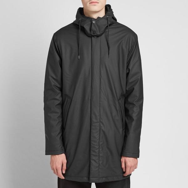 レインズ Rains メンズ コート アウター Mac Coat Black|fermart|05
