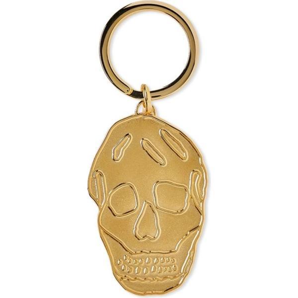 アレキサンダー マックイーン Alexander McQueen メンズ キーホルダー キーリング Skull Keyring Gold