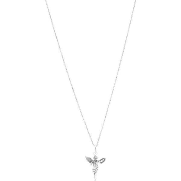 イヴ サンローラン Saint Laurent メンズ ネックレス チャーム ジュエリー・アクセサリー Angel Charm Pendant Necklace Silver