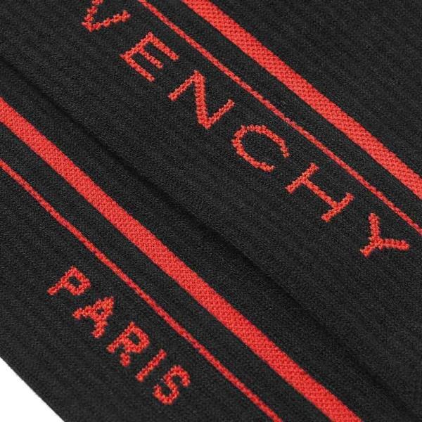 ジバンシー Givenchy メンズ ソックス インナー・下着 jacquard logo sport sock Black/Red fermart 02