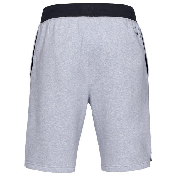 UNDER ARMOUR Shorts BASELINE FLEECE Size MEDIUM Cotton Polyester GRAY with BLACK