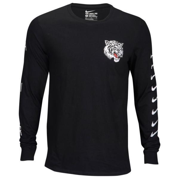 ナイキ Nike メンズ 長袖Tシャツ トップス Graphic Long Sleeve T-Shirt Black/White fermart