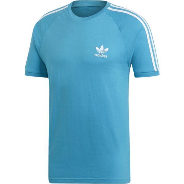 アディダス adidas Originals メンズ Tシャツ トップス California T-Shirt Shock Cyan/White fermart