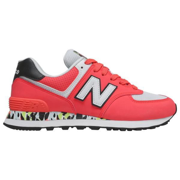 ニューバランス New Balance レディース ランニング・ウォーキング シューズ・靴 574 Classic Vivid Coral/White