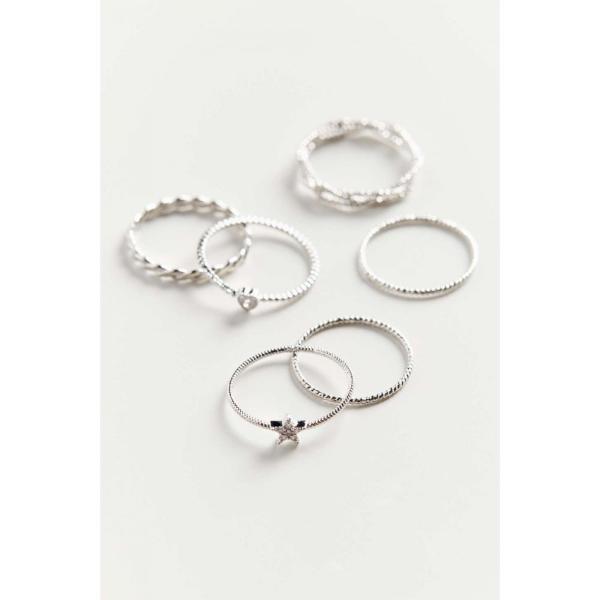 アーバンアウトフィッターズ Urban Outfitters レディース 指輪・リング チャーム ジュエリー・アクセサリー Natalia Charm Ring Set Silver