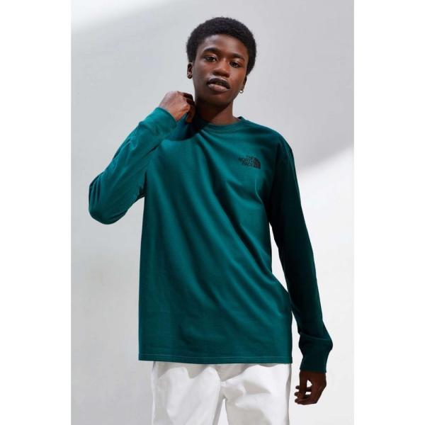 ザ ノースフェイス The North Face メンズ 長袖Tシャツ トップス Box Logo Long Sleeve Tee Green|fermart|02
