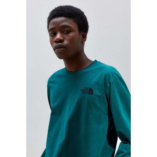 ザ ノースフェイス The North Face メンズ 長袖Tシャツ トップス Box Logo Long Sleeve Tee Green|fermart|03