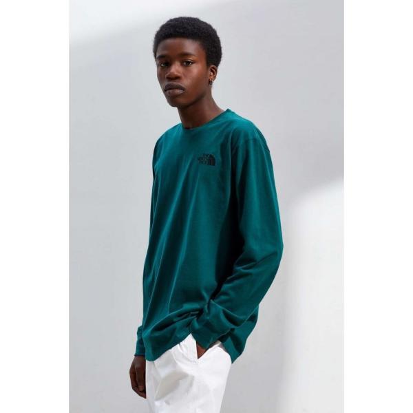 ザ ノースフェイス The North Face メンズ 長袖Tシャツ トップス Box Logo Long Sleeve Tee Green|fermart|04