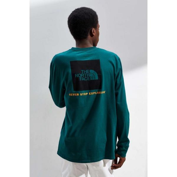 ザ ノースフェイス The North Face メンズ 長袖Tシャツ トップス Box Logo Long Sleeve Tee Green|fermart|05
