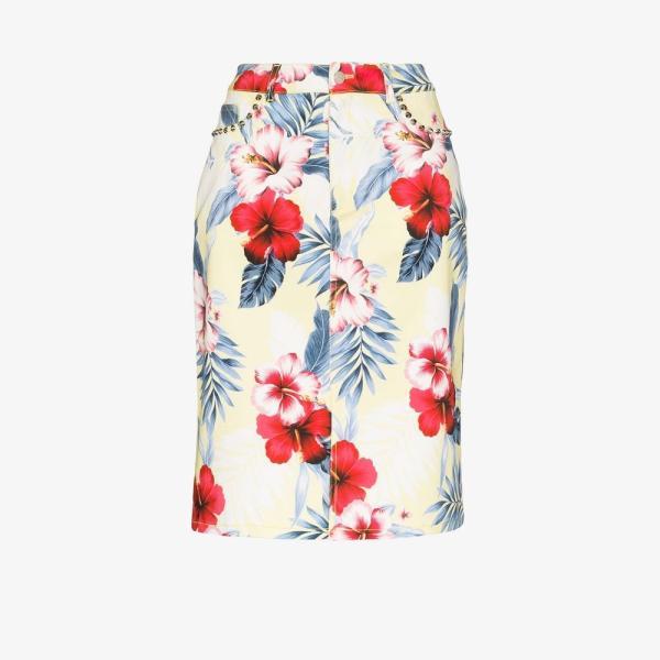 レ レヴェリズ Les Reveries レディース ひざ丈スカート ペンシルスカート スカート tropical Floral print pencil skirt yellow yh2-ffb4b0849a