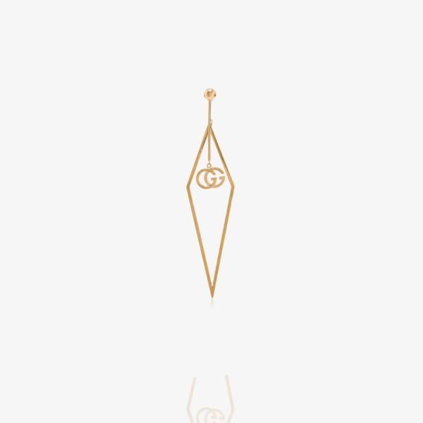 グッチ Gucci レディース イヤリング・ピアス ドロップピアス ジュエリー・アクセサリー 18K yellow gold triangle logo drop earring