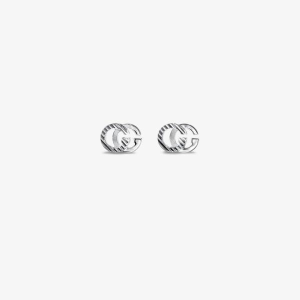 グッチ Gucci レディース イヤリング・ピアス ジュエリー・アクセサリー 18K white Gold Running logo earrings white