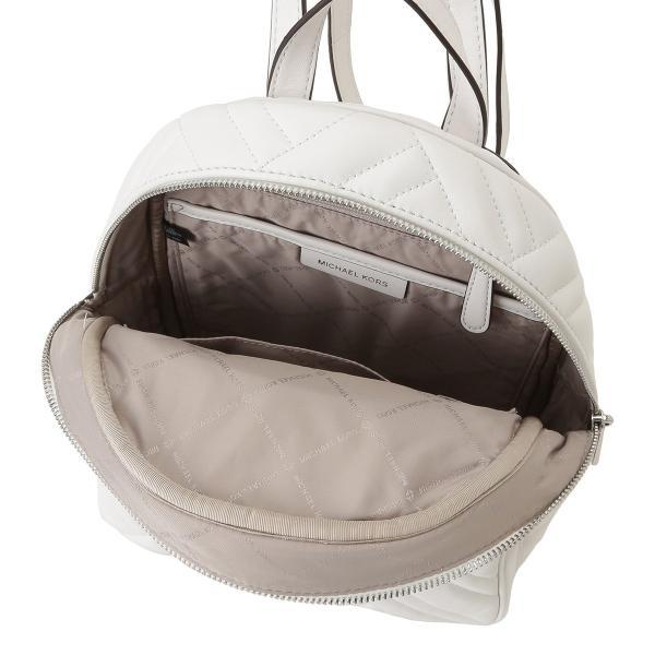 【即納】マイケル コース Michael Kors レディース バックパック・リュック バッグ LEATHER BAG 35s9sayb2t OPTIC WHITE ロゴ キルティング fermart 03
