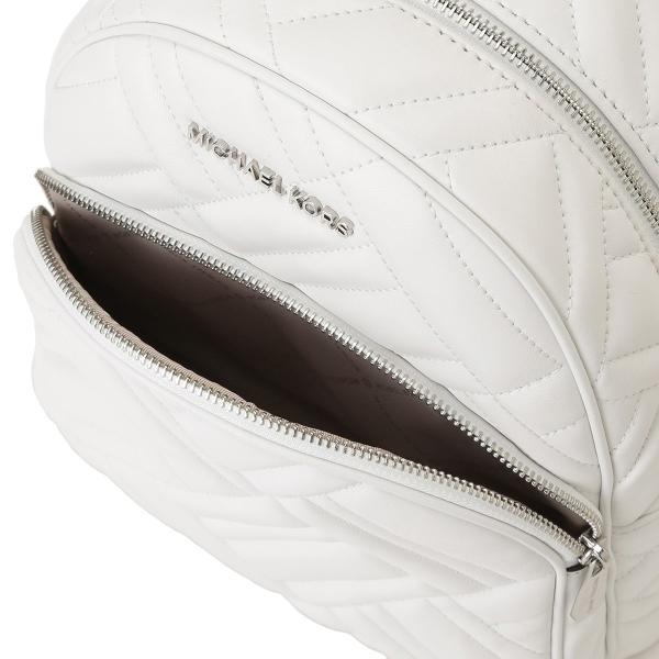 【即納】マイケル コース Michael Kors レディース バックパック・リュック バッグ LEATHER BAG 35s9sayb2t OPTIC WHITE ロゴ キルティング fermart 04