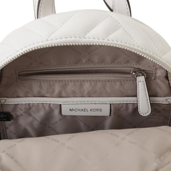 【即納】マイケル コース Michael Kors レディース バックパック・リュック バッグ LEATHER BAG 35s9sayb2t OPTIC WHITE ロゴ キルティング fermart 05