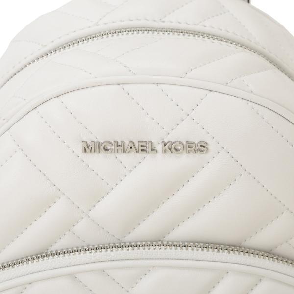 【即納】マイケル コース Michael Kors レディース バックパック・リュック バッグ LEATHER BAG 35s9sayb2t OPTIC WHITE ロゴ キルティング fermart 06