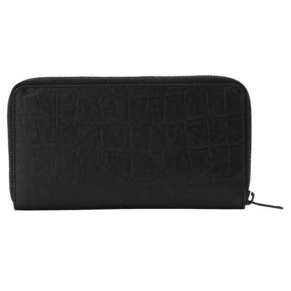 【即納】イヴ サンローラン Saint Laurent メンズ 財布 Leather Long Zip Wallet 529899 BLACK ラウンドファスナー 長財布 ロングウォレット 型押し モノグラム|fermart|02