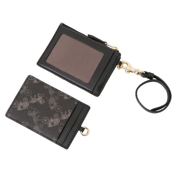 【即納】コーチ Coach ユニセックス カードケース・名刺入れ PVC COATING ID LANYARD IMQBE コインケース セット ホース アンド キャリッジ プリント|fermart|02