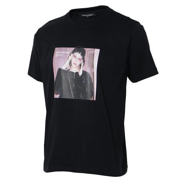【即納】エンコーデッド T. x ENCODED メンズ Tシャツ トップス T.lady TEE black|fermart